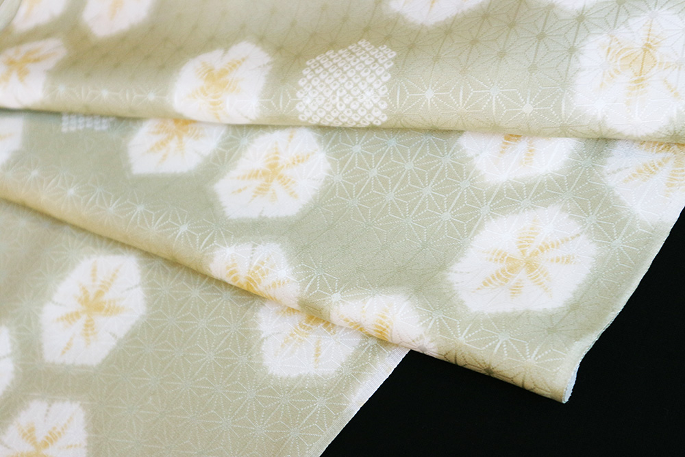 最高級正絹おしゃれ長襦袢「麻の葉に亀甲」