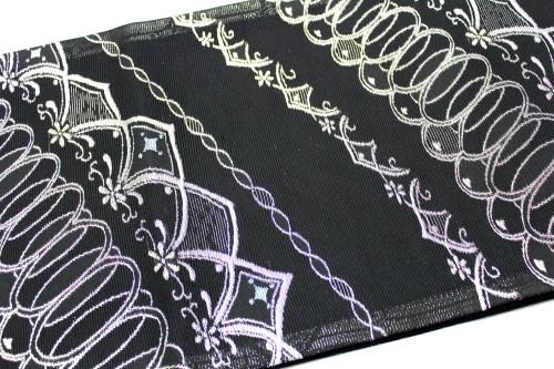 西陣織京都イシハラ謹製 夏物絽袋帯「斜め取り流線幾何学」