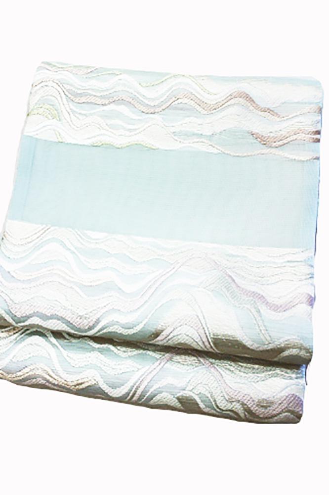 西陣織丸勇謹製 夏物袋帯「横段に波」