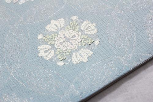 西陣織丸勇謹製 夏物袋帯「七宝華紋」
