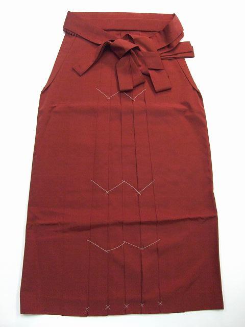 レンタル袴「エンジ無地」 往復送料無料・半巾帯セット