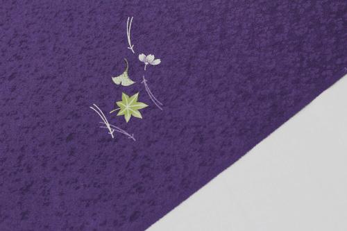 最高級正絹小紋「飛柄 松葉に銀杏と楓」