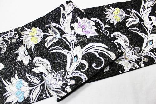 西陣織帯匠山下謹製袋帯「更紗」