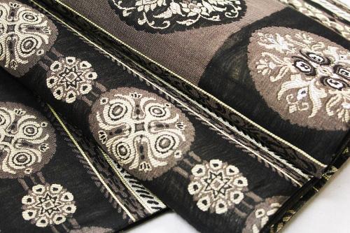 西陣織大光謹製袋帯「スリーシーズン 横段唐花華紋」