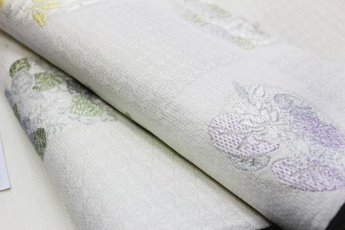 西陣織丸勇謹製 夏物袋帯「花枝丸」