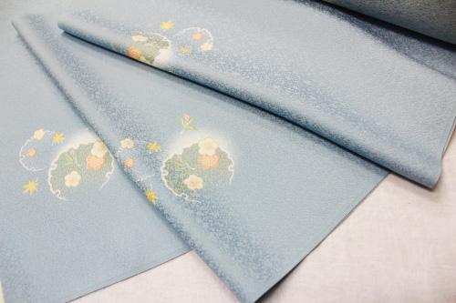 最高級正絹小紋「飛柄 雪輪に花」