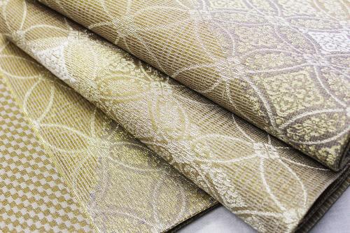 西陣織大光謹製 夏物袋帯「斜めぼかし 七宝華紋」