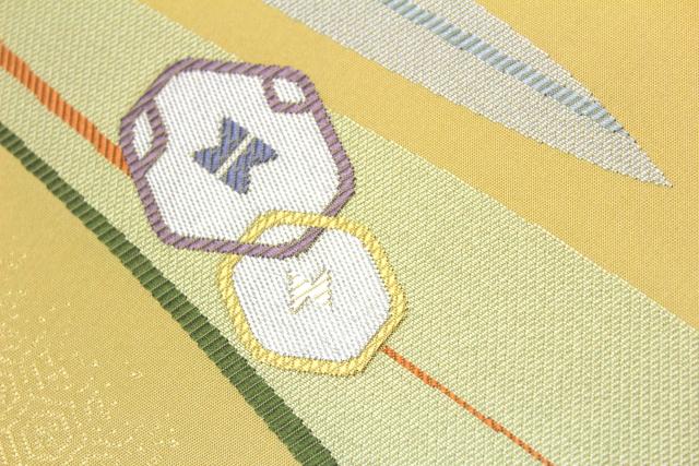 西陣織木原織物謹製 九寸名古屋帯「幾何学文様」