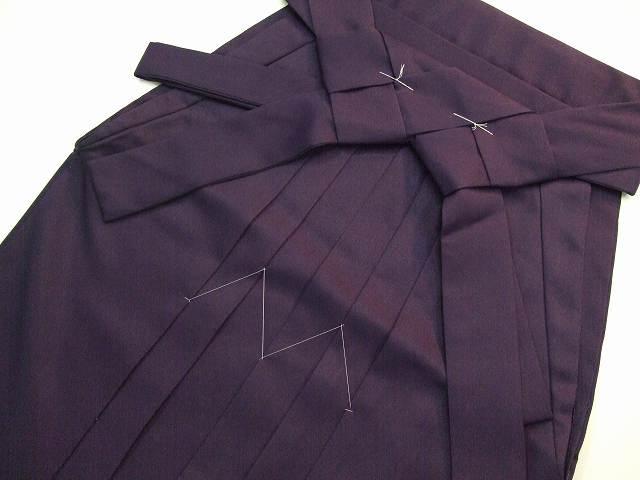 レンタル袴「紫無地/桜刺繍」 往復送料無料・半巾帯セット