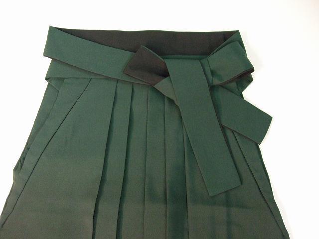 レンタル袴「緑ぼかし/桜刺繍」 往復送料無料・半巾帯付