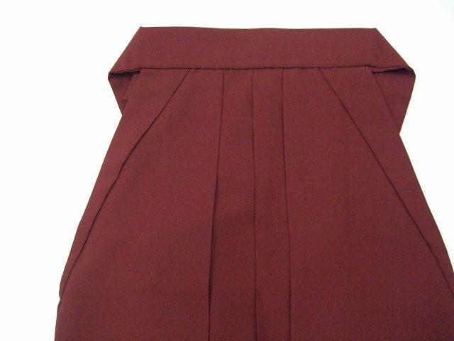 レンタル袴「エンジ無地/紐に桜刺繍」 往復送料無料・半巾帯付