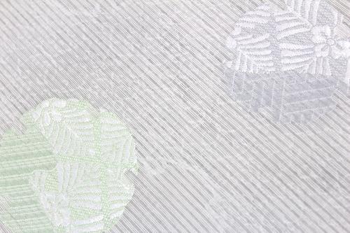 西陣織京都イシハラ謹製 夏物紋紗名古屋帯「雪輪に松葉花菱」