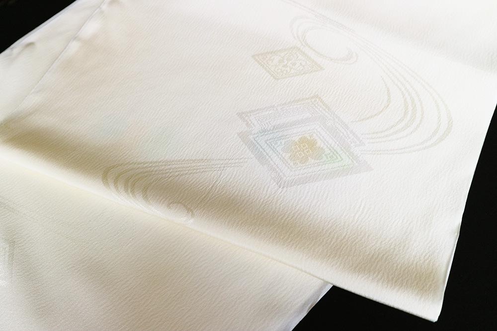 最高級正絹楊柳ちりめん長襦袢「流水に菱華紋」