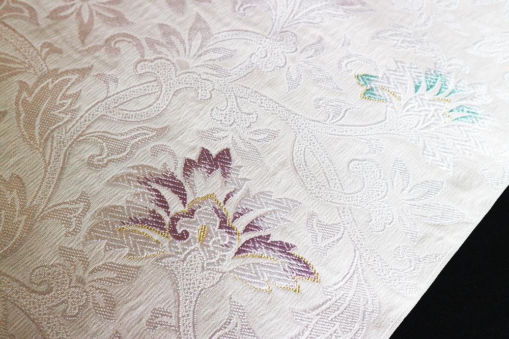 西陣織弥栄織物謹製 九寸名古屋帯「唐花」