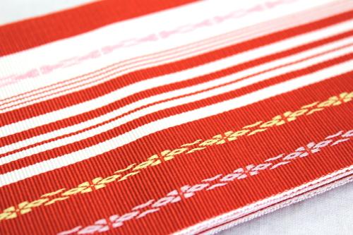 日本製 正絹伊達締め「献上柄」