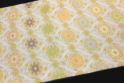 西陣織河合美術織物謹製袋帯「立湧華紋」