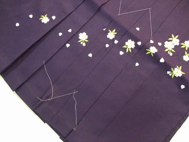 レンタル袴「紫ぼかし/桜刺繍」 往復送料無料・半巾帯セット