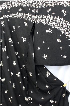 最高級紋紗夏訪問着「刺繍 流水小花」