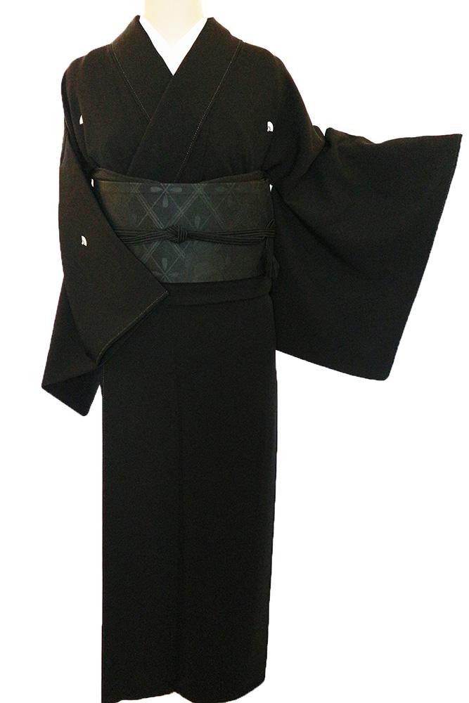 正絹喪服レンタルフルセット「五本骨扇紋」