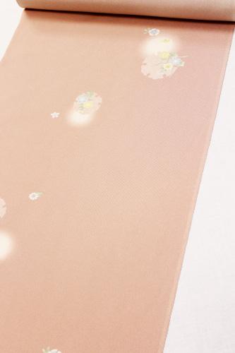 最高級正絹小紋「雪輪に花と蛍ぼかし」