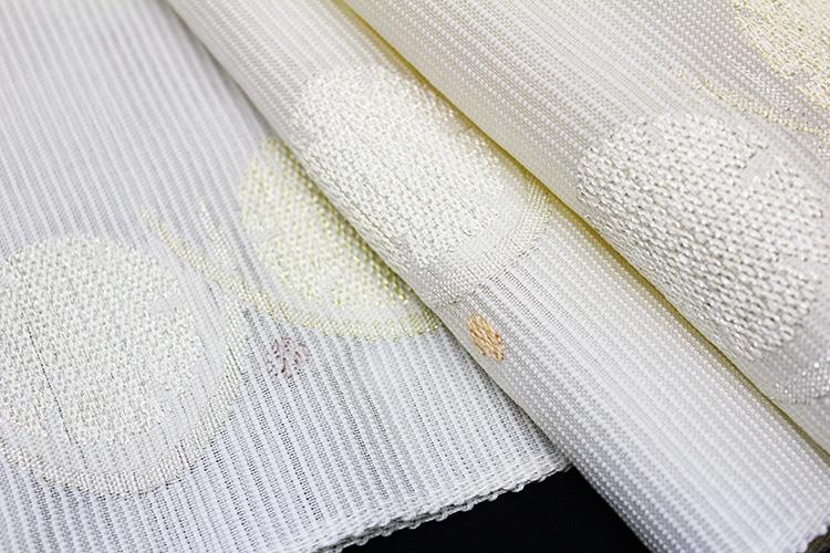 西陣織橋本テル織物謹製 夏物絽九寸名古屋帯「流水取り幾何学」