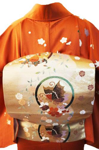 正絹訪問着レンタルフルセット「四季の花飛び柄」