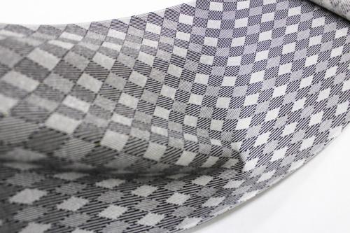 最高級正絹小紋「菱にストライプ」