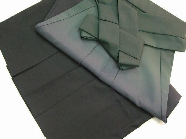 レンタル袴「緑ぼかし」 往復送料無料・半巾帯セット