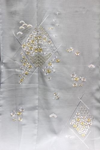 最高級夏訪問着「七宝に小花刺繍」