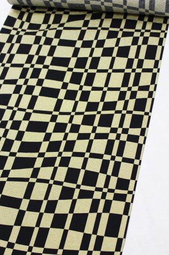 最高級正絹小紋「鮫に幾何学格子」