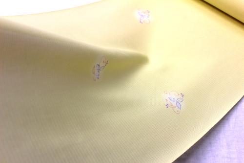 正絹の夏物駒絽小紋「蛍ぼかしに弦小花」