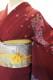 正絹訪問着レンタルフルセット「おぼろ染め 蔓に菊」