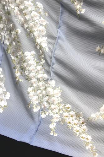 最高級夏訪問着「刺繍 桜と夏の花」