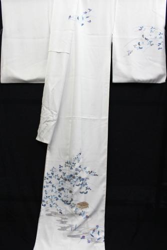 最高級五泉産駒絽夏訪問着「手描友禅 虫籠」