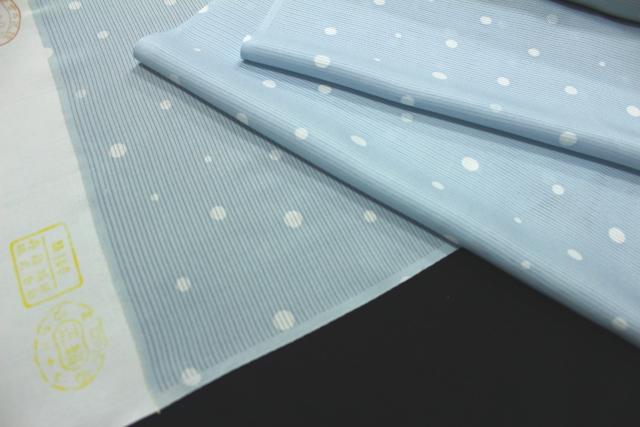 正絹の夏物駒絽小紋「水玉」