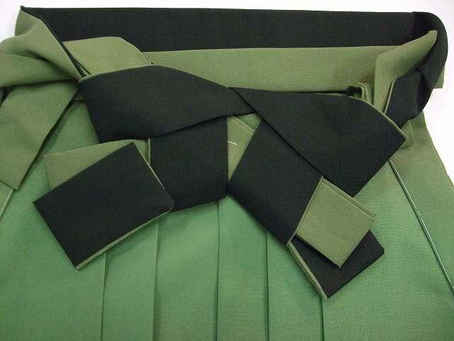 レンタル袴「緑ぼかし」往復送料無料・半巾帯セット