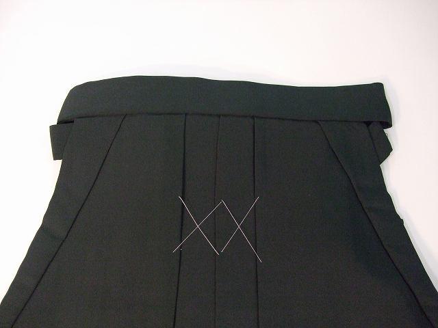 レンタル袴「濃緑無地/桜刺繍」 往復送料無料・半巾帯セット
