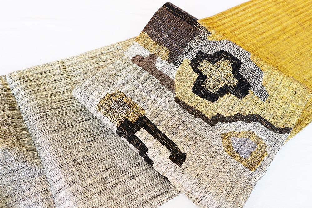 ※厳選仕立上がり商品 正絹おしゃれ袋帯「幾何学」