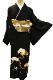 正絹黒留袖レンタルフルセット「波に松」