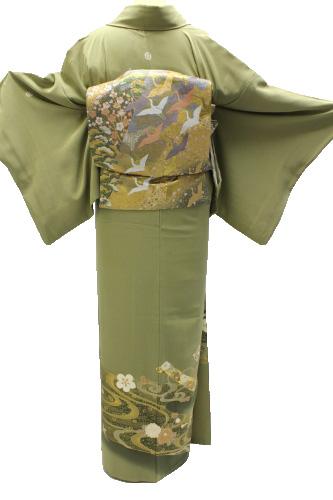 正絹色留袖レンタルフルセット「流水に宝尽くし」