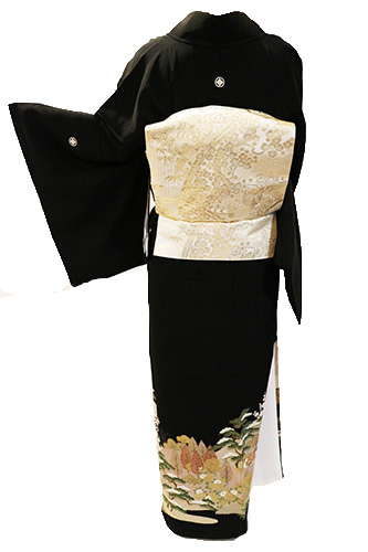 正絹黒留袖レンタルフルセット「茶屋辻」