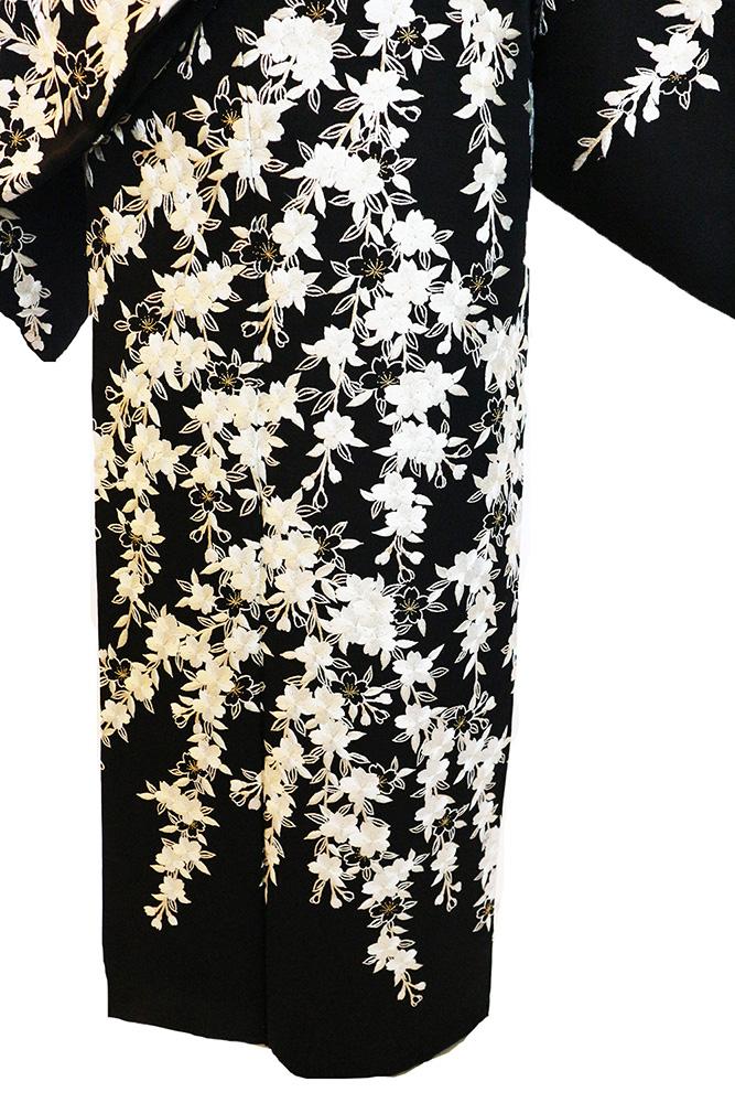 正絹訪問着 レンタルフルセット「総柄刺繍 桜」
