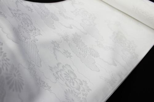 最高級正絹白襦袢「雲取りに菊牡丹」