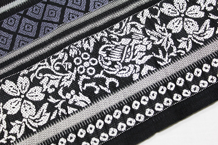 西陣織佐々木染織謹製 夏物絽九寸名古屋帯「ストライプに献上と華紋」