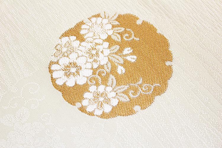 西陣織京都イシハラ謹製 九寸名古屋帯「雪輪に花」