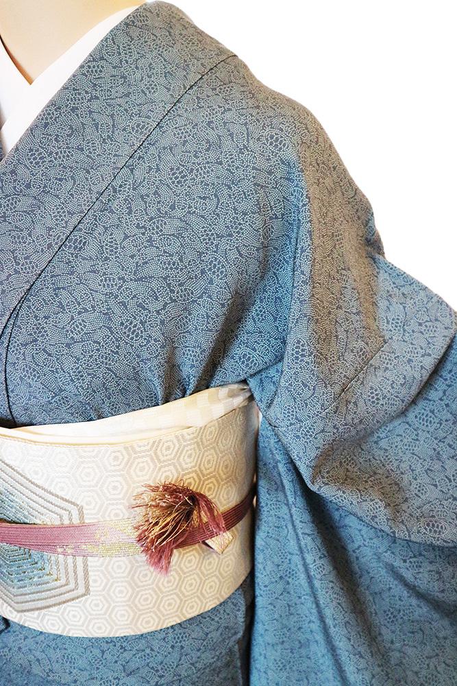 正絹江戸小紋レンタルフルセット「亀総柄」