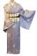 正絹小紋レンタルフルセット「雪輪に花枝丸飛柄」