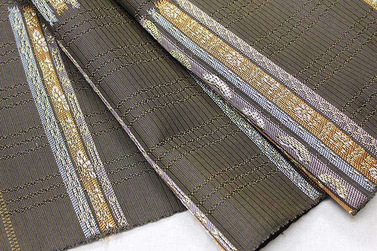 西陣織橋本テル織物謹製九寸名古屋帯「横段の美」