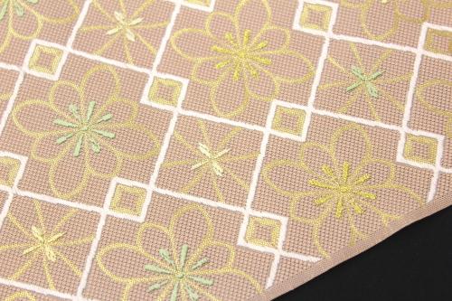 西陣織 ふくい謹製 九寸名古屋帯「菱華紋」