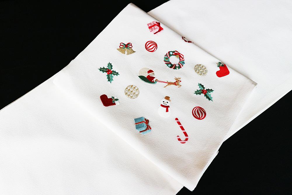 逸品袋帯「刺繍 クリスマス」